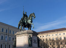 Monument to King Ludwig I of Bavaria in Munich, Germany Stock Images