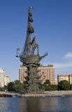 Monument to king Peter the Great, Moscow Royalty Free Stock Photography