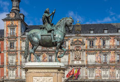 Monument to King Philip III Stock Photo