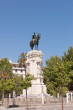Monument to King Saint Ferdinand. In Plaza Nueva (New square), Sevilla royalty free stock photography