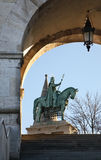 Monument to King Saint Stephen in Budapest. Hungary.  stock photos