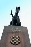 Monument to King Tomislav in Zagreb, horse head silhouette Royalty Free Stock Photography