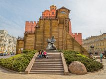 Monument to king Yaroslav Mydriy Royalty Free Stock Image