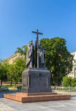 Monument to Kirill and Mefodiy in Moscow Stock Image