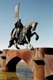 Monument to the Knights Templar. Ponferrada. Royalty Free Stock Image