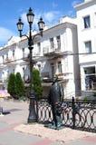 Monument to Kuprin in Balaklave Stock Photos