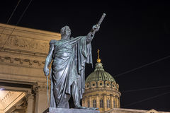 Monument to Kutuzov in the Kazan Cathedral in St. Petersburg Royalty Free Stock Photo