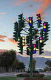 Monument to the last traffic lights, Eilat, Israel Stock Photos