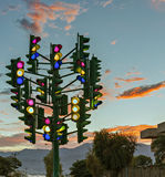 Monument to the last traffic lights, Eilat, Israel Royalty Free Stock Photos