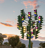 Monument to the last traffic lights, Eilat, Israel Stock Photography