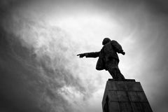 Monument to the leader of the proletariat Lenin Royalty Free Stock Photo