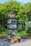 The monument to the legendary airborne commander V.F. Margelov Stock Photography