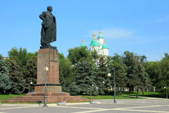 The monument to Lenin in Astrakhan Royalty Free Stock Photography