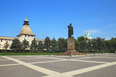 The monument to Lenin in Astrakhan Royalty Free Stock Photos