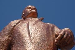 Monument to Lenin. On a background sky Stock Photos