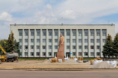 Monument to  Lenin in Berdychiv, Ukraine Stock Photos