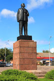 Monument to Lenin on a central square of the city of Sovetsk Royalty Free Stock Image