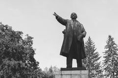Monument to Lenin. Forward with his hand raised Royalty Free Stock Photography