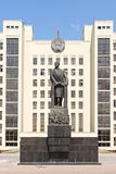 Monument to Lenin in front of government house in Minsk Royalty Free Stock Photography