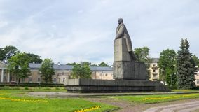 The monument to Lenin in granit, timelapse stock video footage