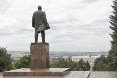Monument to Lenin in Pyatigorsk, look to city administration bui Stock Images