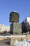 The monument to Lenin in Ulan-Ude, Buryatia Stock Images