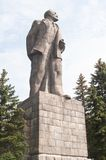 Monument to Lenin on the waterfront of the city of Dubna. Russia Royalty Free Stock Images
