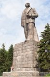 Monument to Lenin on the waterfront of the city of Dubna. Russia Royalty Free Stock Photography