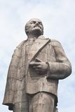 Monument to Lenin on the waterfront of the city of Dubna. Russia Royalty Free Stock Image
