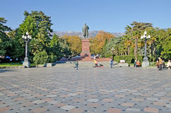 Monument to Lenin in Yalta Stock Photography