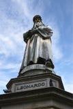 The monument to Leonardo da Vinci in Milan Royalty Free Stock Photos
