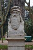 Monument to Leonardo da Vinci in Rome, Italy. Leonardo da Vinci was an Italian painter, sculptor, architect, musician, mathematician, engineer, inventor and Stock Photography