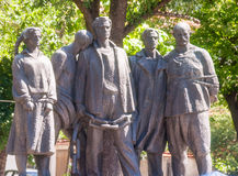 A monument to the liberators of Karlovo from the Nazis. Bulgaria Royalty Free Stock Photo