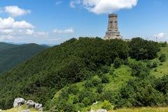 Monument to Liberty Shipka and landscape to Stara Planina Balkan Mountain, Bulgaria. Monument to Liberty Shipka and landscape to Stara Planina Balkan Mountain royalty free stock images