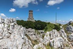 Monument to Liberty Shipka and landscape to Stara Planina Balkan Mountain, Bulgaria. Monument to Liberty Shipka and landscape to Stara Planina Balkan Mountain stock photos