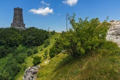 Monument to Liberty Shipka and landscape to Stara Planina Balkan Mountain, Bulgaria. Monument to Liberty Shipka and landscape to Stara Planina Balkan Mountain royalty free stock photography
