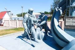 Monument to the liquidators of the Chernobyl accident royalty free stock photo