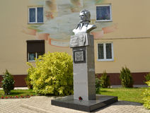 Monument to the Lithuanian poet Kristionas Donelaytis Royalty Free Stock Photography