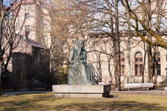 Monument to Lithuanian writer Zemaite, Vilnius Royalty Free Stock Photo