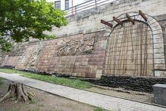 Monument to local soldiers, Signagi, Kakheti, Georgia Royalty Free Stock Photo