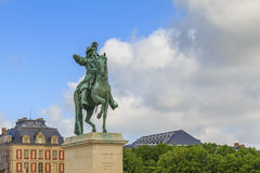 Monument to Louis-14 in Versailles Stock Images