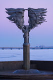 Monument to love on the waterfront in Saratov Stock Photography