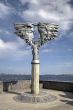 Monument to lovers. Saratov, Russia Royalty Free Stock Images