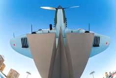 Monument to low-flying attack airplane Stock Image