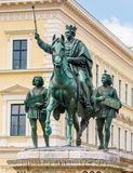 Monument to Ludwig in Munich Royalty Free Stock Image