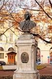 Monument to M.V.Lomonosov in St Petersburg, Russia. ST PETERSBURG, RUSSIA - OCTOBER 20,2012. Monument to Russian scientist Michael Lomonosov in St Petersburg Stock Photography