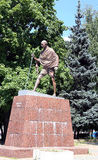 Monument to Mahatma Gandhi in Moscow Royalty Free Stock Photography