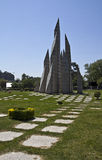 Monument to Maia Community. Portugal. Also known as the Pyramids of Maia royalty free stock images