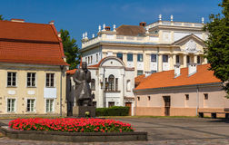 Monument to Maironis in Kaunas Stock Images