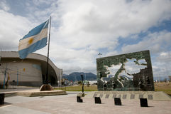 Monument to Malvinas Islands Battle - Ushuaia - Argentina Stock Photo